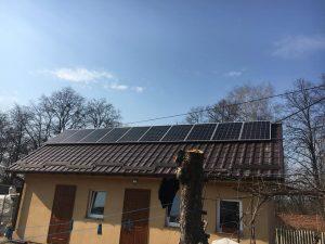 с. Малий Шпаків, СЕС 12 кВт, дахова, панелі JA Solar 310 W mono - 44 шт, інвертор Huawei 12 кВт.