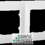 Рамка двомісна CLASSIC (біла)