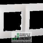 Рамка чотиримісна CLASSIC (біла)
